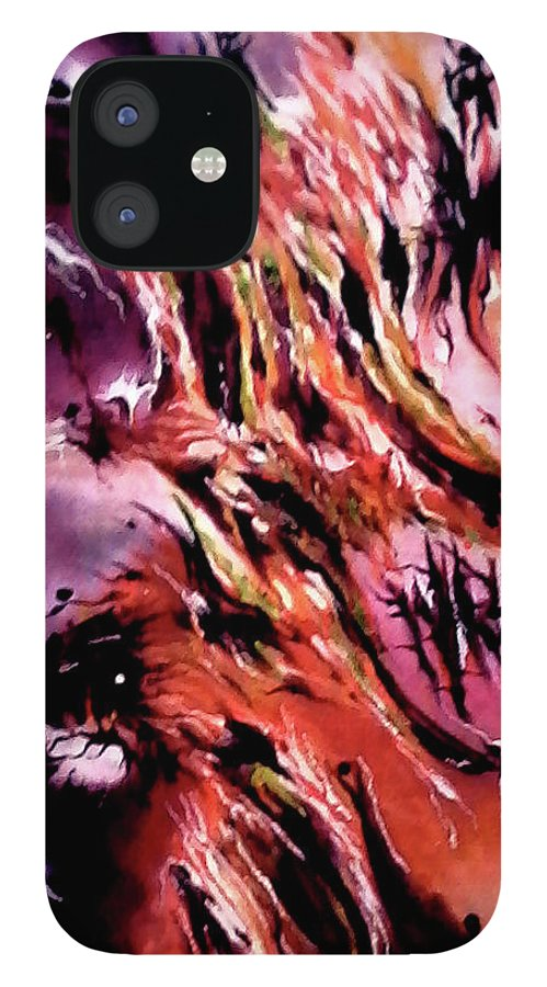 Abstract Design IPhone Case featuring the painting Manifesto of Cosmic Significance by Carmen Fine Art