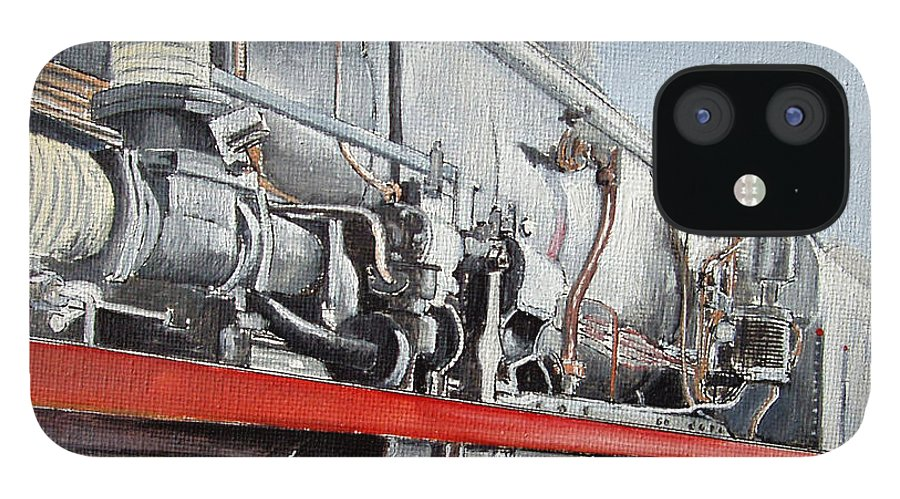 Train IPhone 12 Case featuring the painting Maquina de Vapor by Tomas Castano