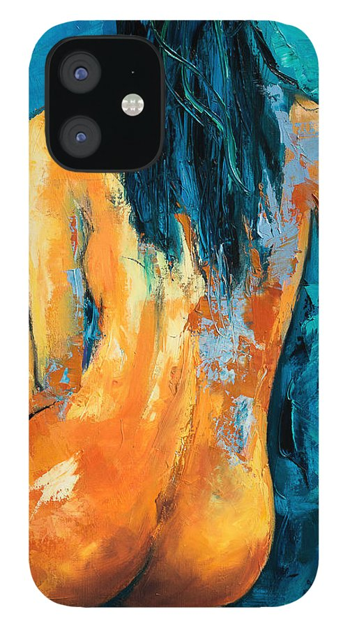 Nude IPhone 12 Case featuring the painting Mary Lou by Elise Palmigiani