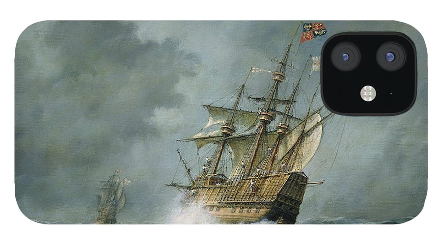 Mary Rose IPhone 12 Case featuring the painting Mary Rose by Richard Willis