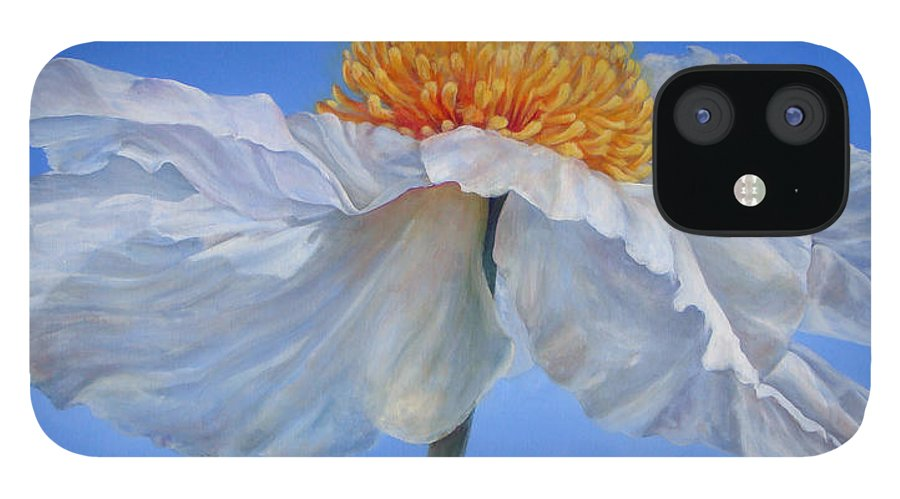 Floral Painting IPhone 12 Case featuring the painting Matilla 2 by Muriel Dolemieux