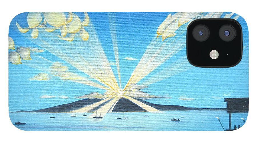 Maui IPhone 12 Case featuring the painting Maui Magic by Jerome Stumphauzer