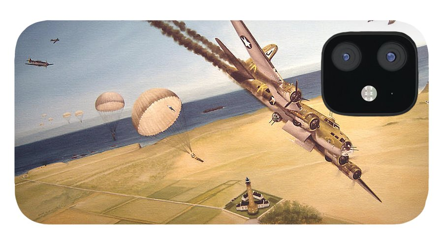 Aviation IPhone 12 Case featuring the painting Mehitabel by Marc Stewart
