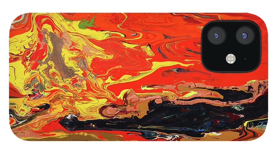 Fusionart IPhone 12 Case featuring the painting Melt by Ralph White