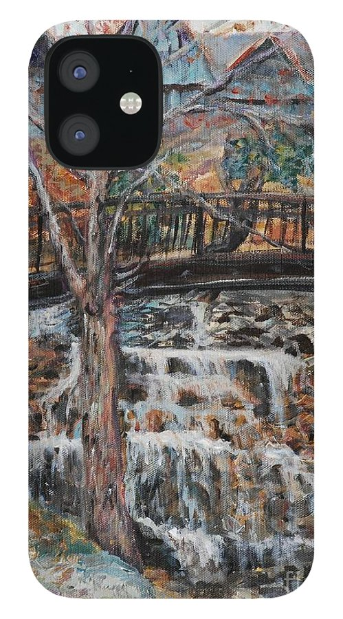 Waterfalls IPhone 12 Case featuring the painting Memories by Nadine Rippelmeyer