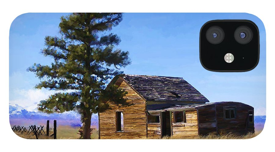 Relic IPhone 12 Case featuring the painting Memories of Montana by Susan Kinney