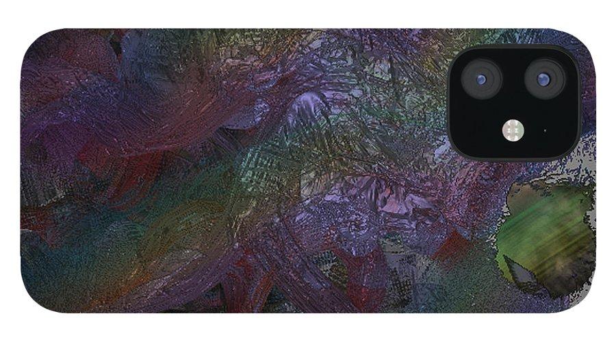 Digital IPhone 12 Case featuring the digital art Metallic Color by J P Lambert