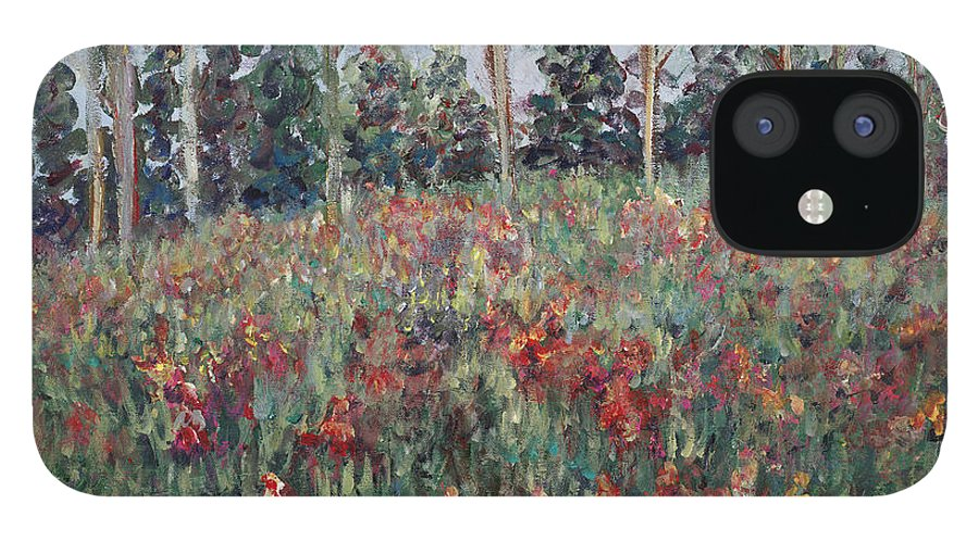 Landscape IPhone 12 Case featuring the painting Minnesota Wildflowers by Nadine Rippelmeyer