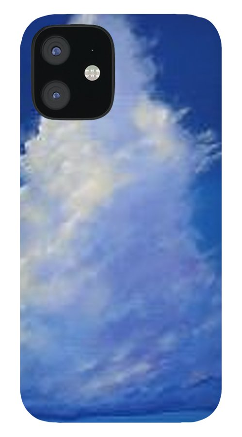 Clouds IPhone 12 Case featuring the painting Minor Earth Major Sky by Hunter Jay