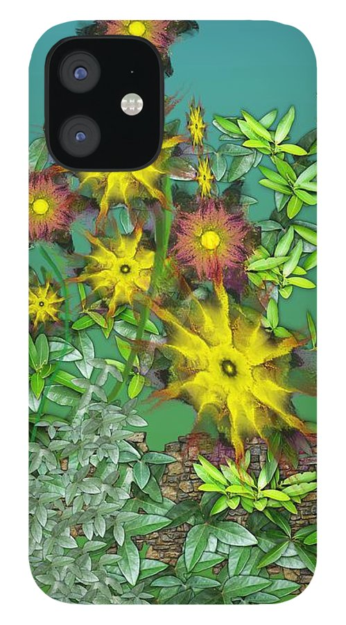 Flowers IPhone 12 Case featuring the digital art Mixed Flowers by David Lane