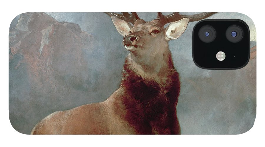 Monarch IPhone 12 Case featuring the painting Monarch of the Glen by Sir Edwin Landseer