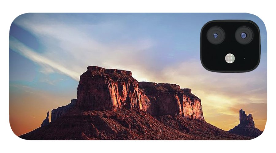Mesa IPhone 12 Case featuring the photograph Monument formations by Roy Nierdieck