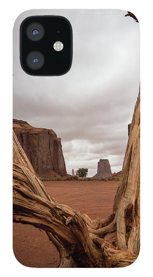 Deadwood IPhone 12 Case featuring the photograph Monument Valley deadwood by Roy Nierdieck