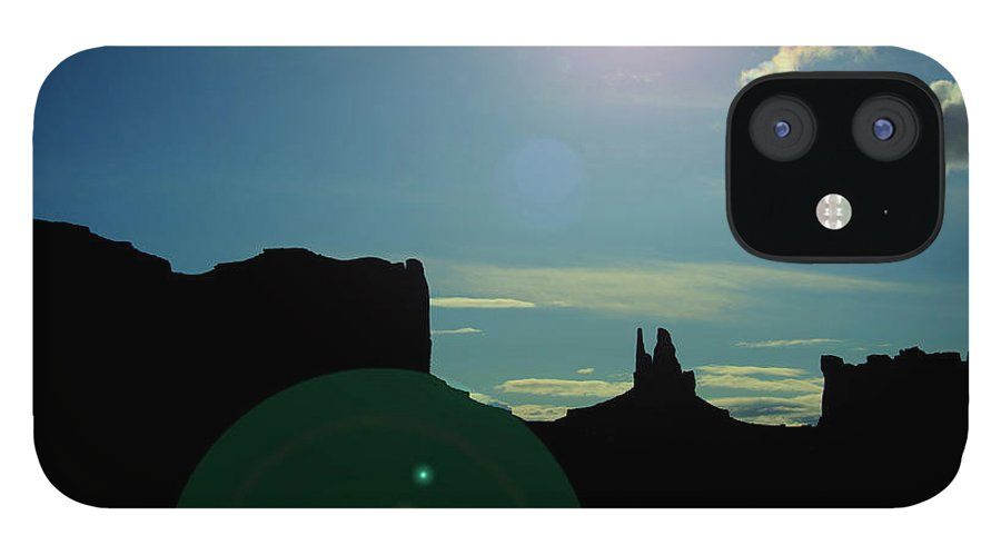 Monument Valley IPhone 12 Case featuring the photograph Monument Valley silhouette by Roy Nierdieck
