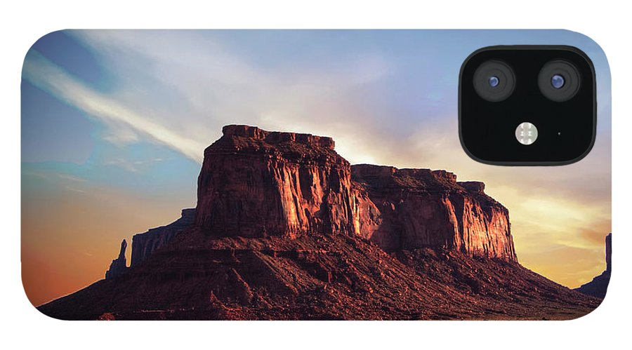 Monument Valley IPhone 12 Case featuring the photograph Monument Valley sunset by Roy Nierdieck