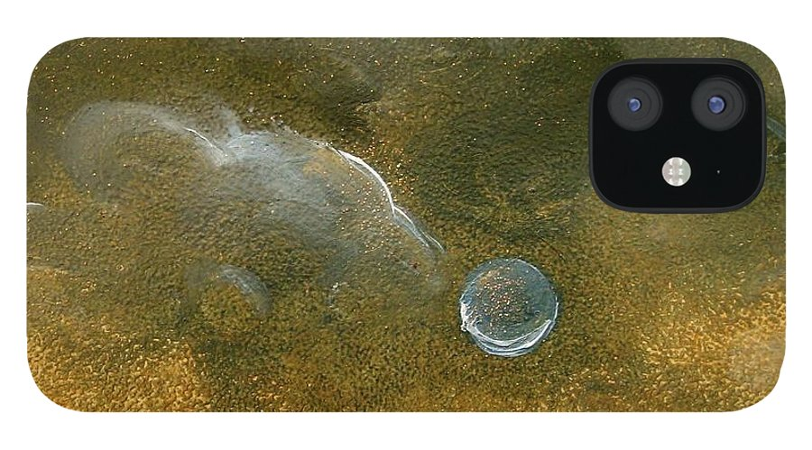 Moon IPhone 12 Case featuring the painting Moon Scape by Karen Doyle