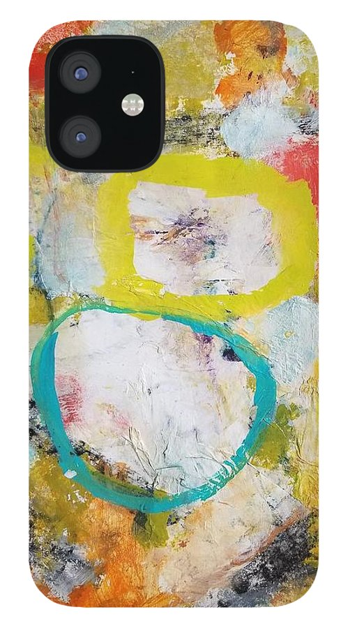 Abstract IPhone 12 Case featuring the painting Morning Calm by Patricia Byron