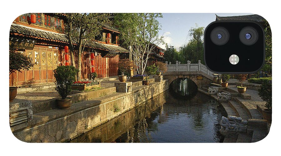 Asia IPhone 12 Case featuring the photograph Morning Comes to Lijiang Ancient Town by Michele Burgess