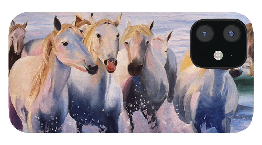 IPhone 12 Case featuring the painting Morning Run by Jay Johnson