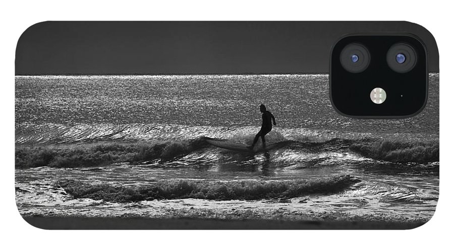 Surfer iPhone 12 Case featuring the photograph Morning surfer by Sheila Smart Fine Art Photography