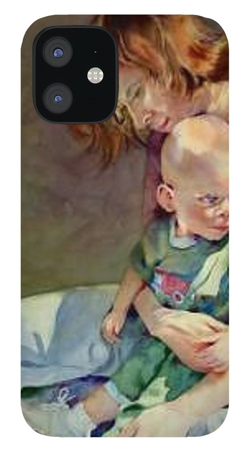 Mother And Child IPhone 12 Case featuring the painting Mother Love by Marlene Gremillion