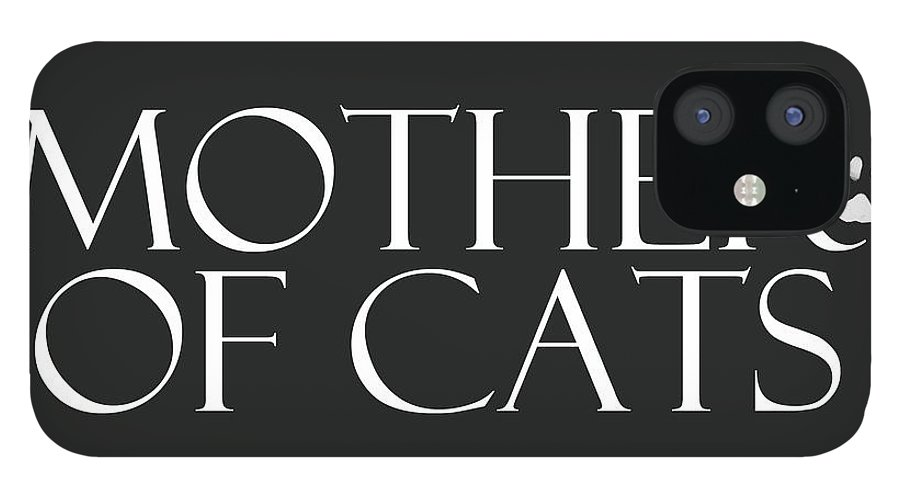 Cat iPhone 12 Case featuring the digital art Mother of Cats- by Linda Woods by Linda Woods