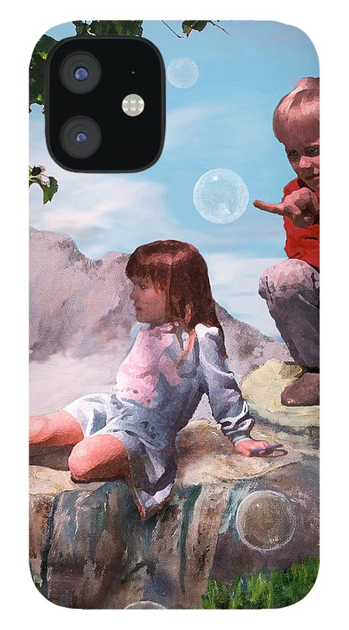 Landscape IPhone 12 Case featuring the painting Mount Innocence by Steve Karol