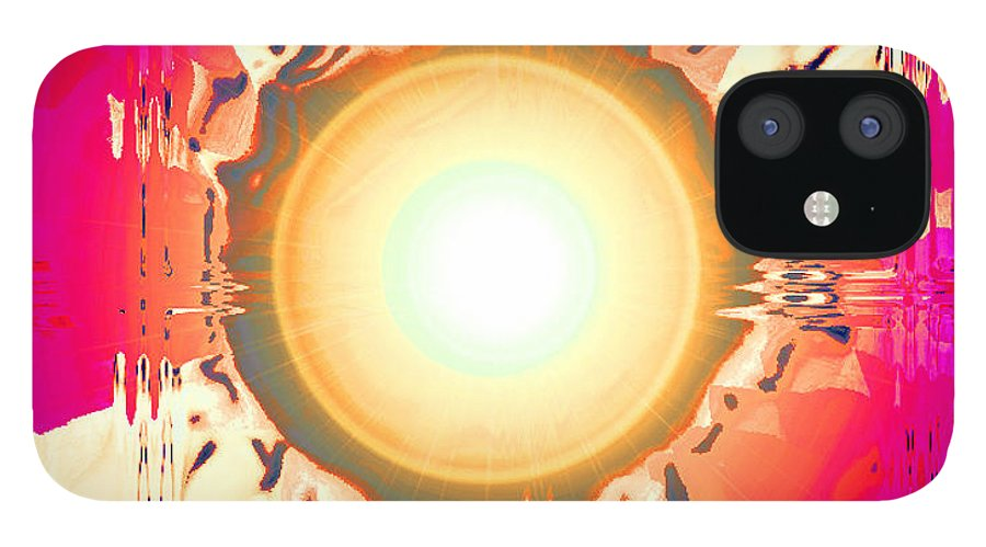 Moveonart! Digital Gallery IPhone 12 Case featuring the digital art MoveOnArt May This Gift Of Light Help You Along Lifes Way by Jacob Kanduch