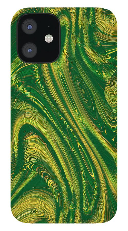 Moveonart! Digital Gallery IPhone 12 Case featuring the digital art MoveOnArt Opportunity WithIn Chaos by Jacob Kanduch