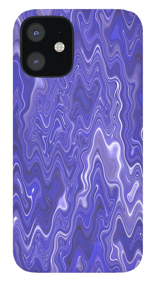 Moveonart! Digital Gallery IPhone 12 Case featuring the digital art MoveOnArt Peaceful Interactive Visual Therapy 2 by Jacob Kanduch