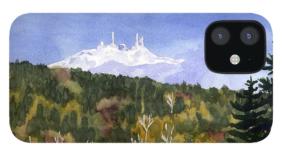 Landscape IPhone 12 Case featuring the painting Almost Mystical by Sharon E Allen