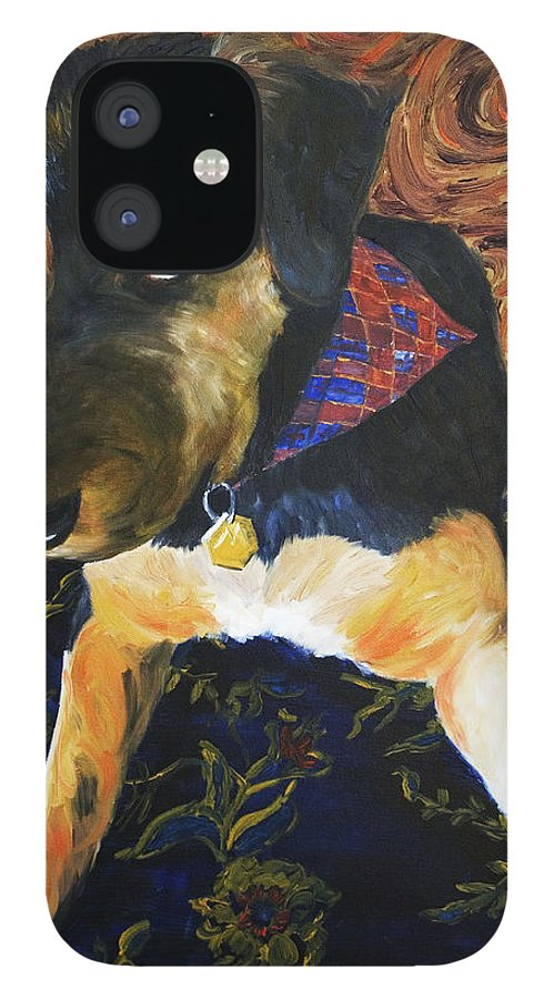 Dog IPhone 12 Case featuring the painting Murphy I by Nik Helbig