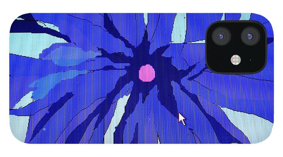 Flower iPhone 12 Case featuring the digital art My Fantastic Flower by Ian MacDonald