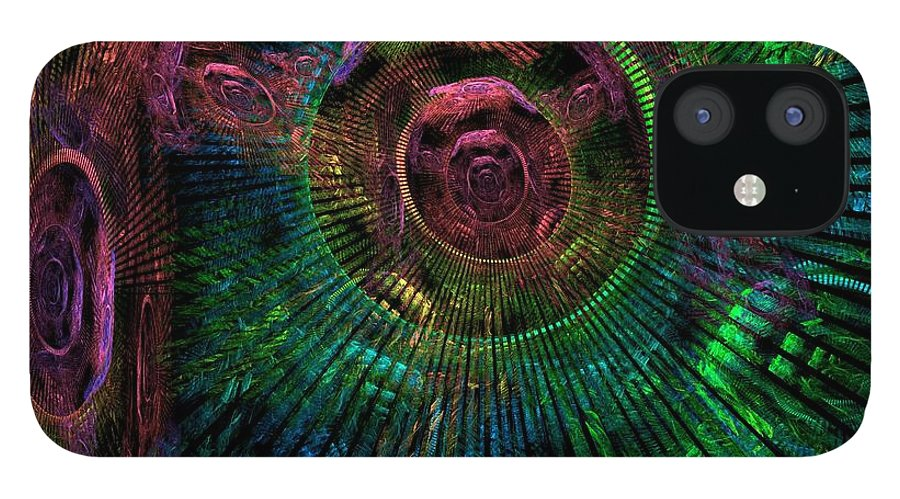 Fractal IPhone 12 Case featuring the digital art My Mind's Eye by Lyle Hatch