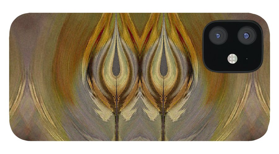 Digital IPhone 12 Case featuring the digital art Mystical Flowers by Ilona Burchard