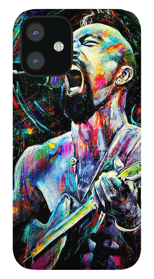 Robyn Chance IPhone 12 Case featuring the painting Nahko by Robyn Chance