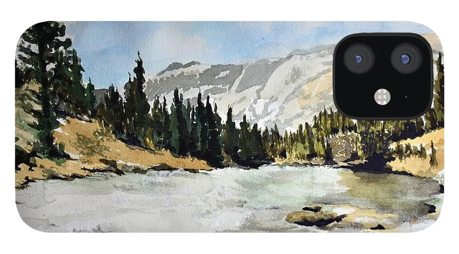 IPhone 12 Case featuring the painting National Parks landscape by Susan Moore