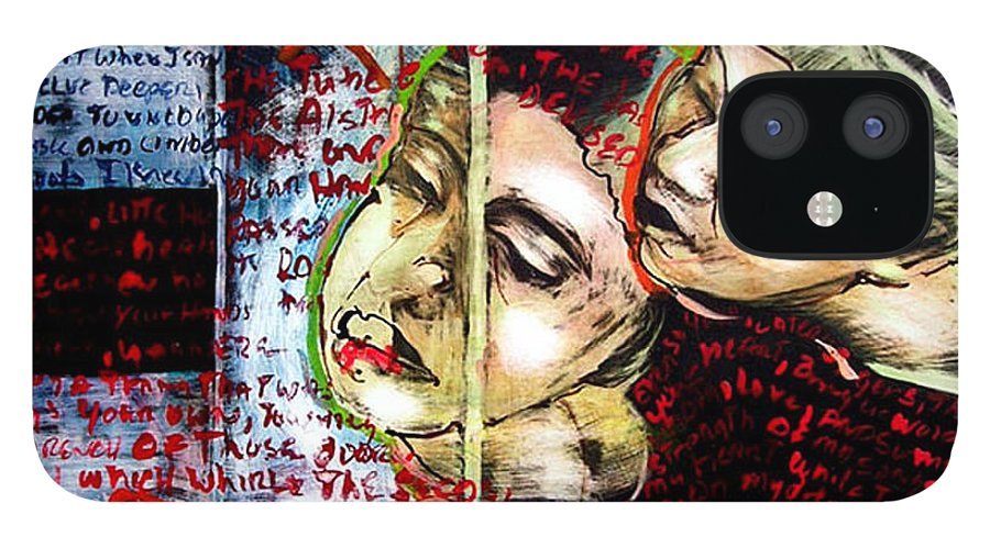 IPhone 12 Case featuring the mixed media Neruda Love Poem by Chester Elmore