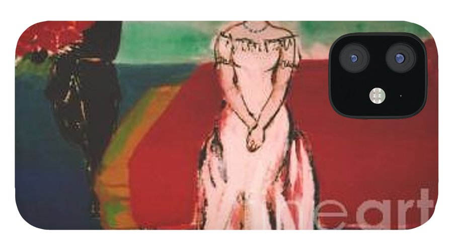 Chinese IPhone 12 Case featuring the painting Newly Weds by Meihua Lu
