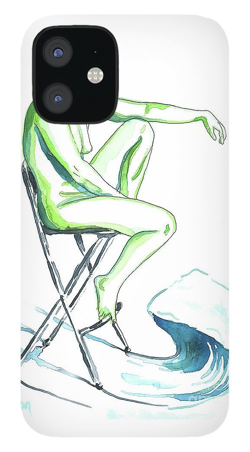 Artistic Nude; Female Nude IPhone 12 Case featuring the painting Wave by D Renee Wilson