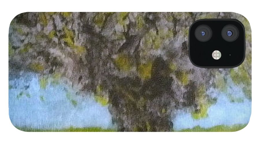 Tree iPhone 12 Case featuring the painting No. 416 by Vijayan Kannampilly