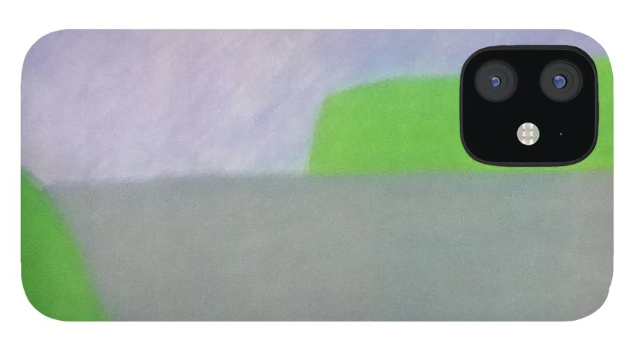 Landscape IPhone 12 Case featuring the painting No. 432 by Vijayan Kannampilly