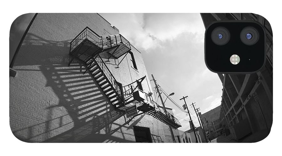 Black And White IPhone 12 Case featuring the photograph No escaping black and white by David Bearden