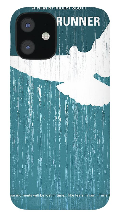 Blade IPhone 12 Case featuring the digital art No011 My Blade Runner minimal movie poster by Chungkong Art