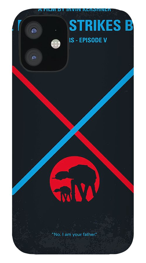 Star IPhone 12 Case featuring the digital art No155 My STAR WARS Episode V The Empire Strikes Back minimal movie poster by Chungkong Art