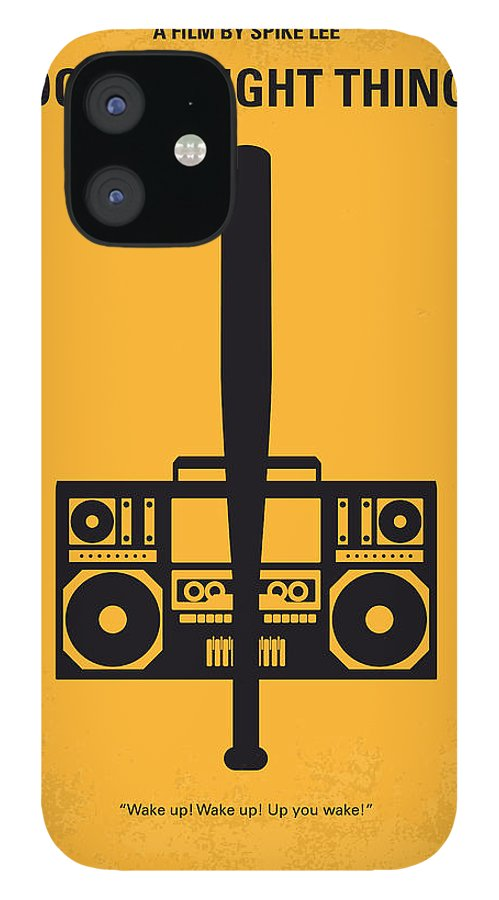 Do The Right Thing iPhone 12 Case featuring the digital art No179 My Do the right thing minimal movie poster by Chungkong Art