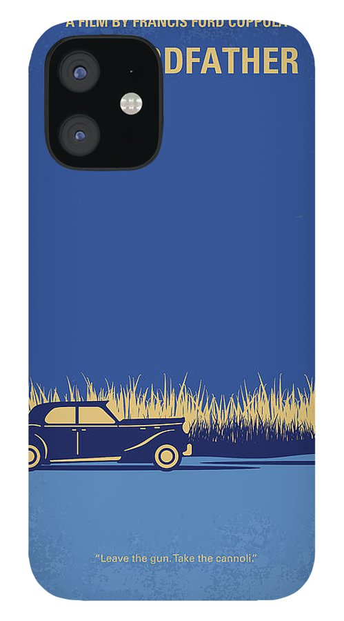 The iPhone 12 Case featuring the digital art No686-1 My Godfather I minimal movie poster by Chungkong Art