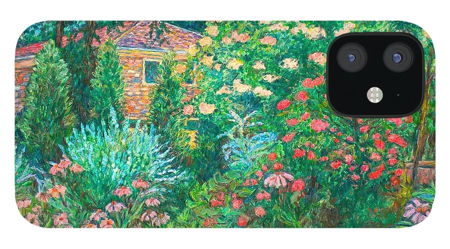 Garden IPhone 12 Case featuring the painting North Albemarle in McLean VA by Kendall Kessler