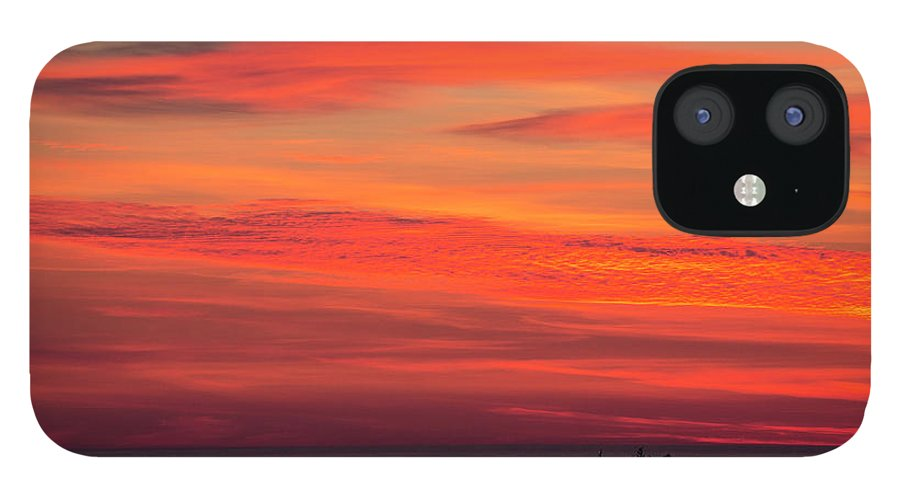 Norwegian Sunset. Boat IPhone 12 Case featuring the photograph Norwegian sunset with boat by Sheila Smart Fine Art Photography