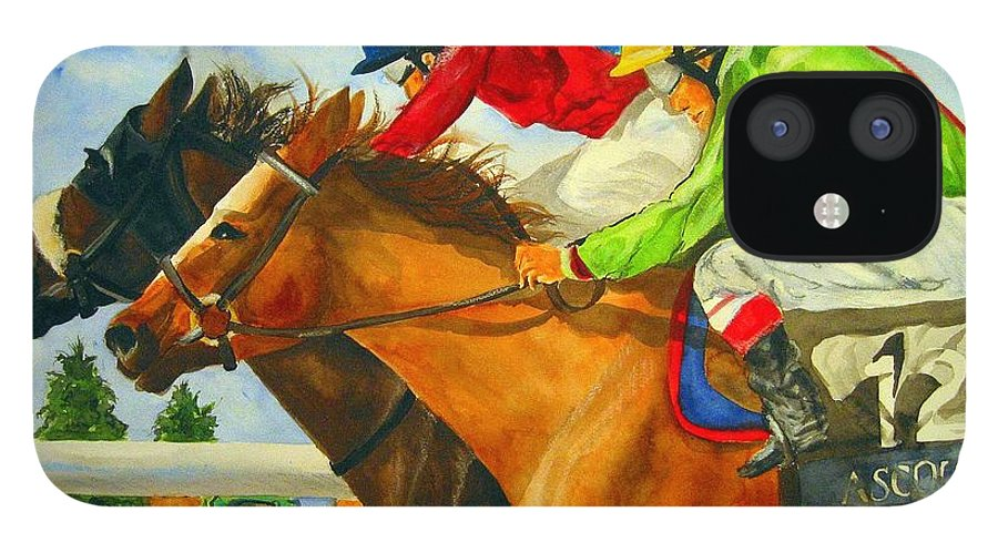 Horse IPhone 12 Case featuring the painting Nose to Nose by Jean Blackmer